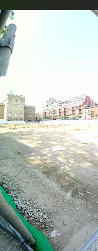 Pano of excavation for a new North St Lawrence Market, 2017 07 15 -b