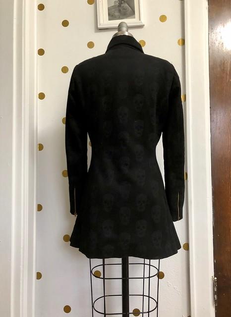 Quart Coat made with Alexander McQueen fabric