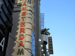 New Amsterdam Red Neon Lit Theater Marquee 4741