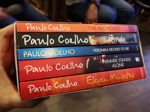 Paulo Coelho books set in Big Bad Wolf Book Sale Davao City IMG_20181105_154947