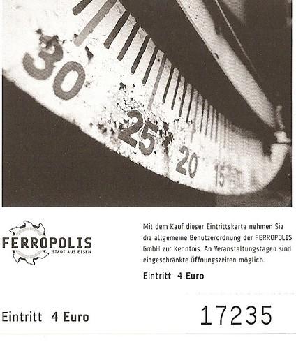 Eintrittskarte Ferropolis