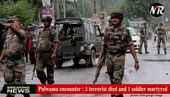 Pulwama encounter : 3 terrorist died and 1 soldier martyred