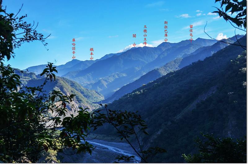 囉囉埔山產道(600 m)東北眺群山 1-1