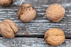 Fresh whole walnuts
