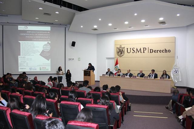 Facultad de Derecho de la USMP inauguró las Jornadas Nacionales de Criminología, Victimología y Política Criminológica 2018