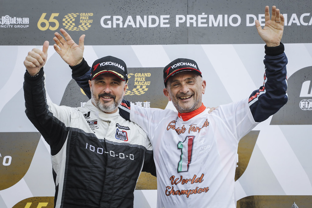 MULLER Yvan, (fra), Hyundai i30 N TCR team Yvan Muller Racing, portrait TARQUINI Gabriele, (ita), Hyundai i30 N TCR team BRC Racing, portrait  during the 2018 FIA WTCR World Touring Car cup of Macau, Circuito da Guia, from november  15 to 18 - Photo Francois Flamand / DPPI