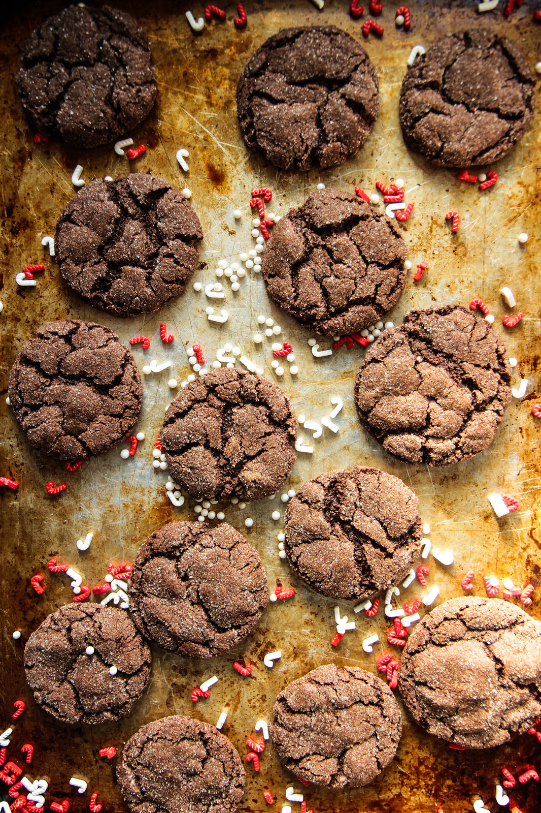 Peppermint Mocha Crinkle cookies- Gluten-free and vegan from HeatherChristo.com