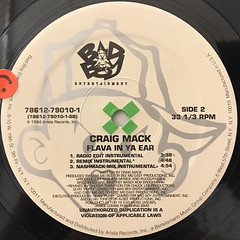CRAIG MACK:FLAVA IN YA EAR - REMIX(LABEL SIDE-B)