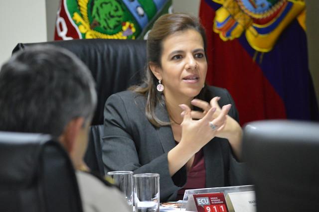 Ministra cumple agenda en Tungurahua