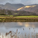 The Langdale Pikes beyond the River Brathay, Langdale