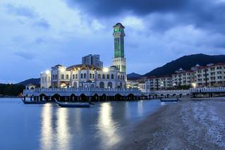 ABM (Another Blue Monday) / The floating mosque of Tanjung Bungah, Penang, Malaysia