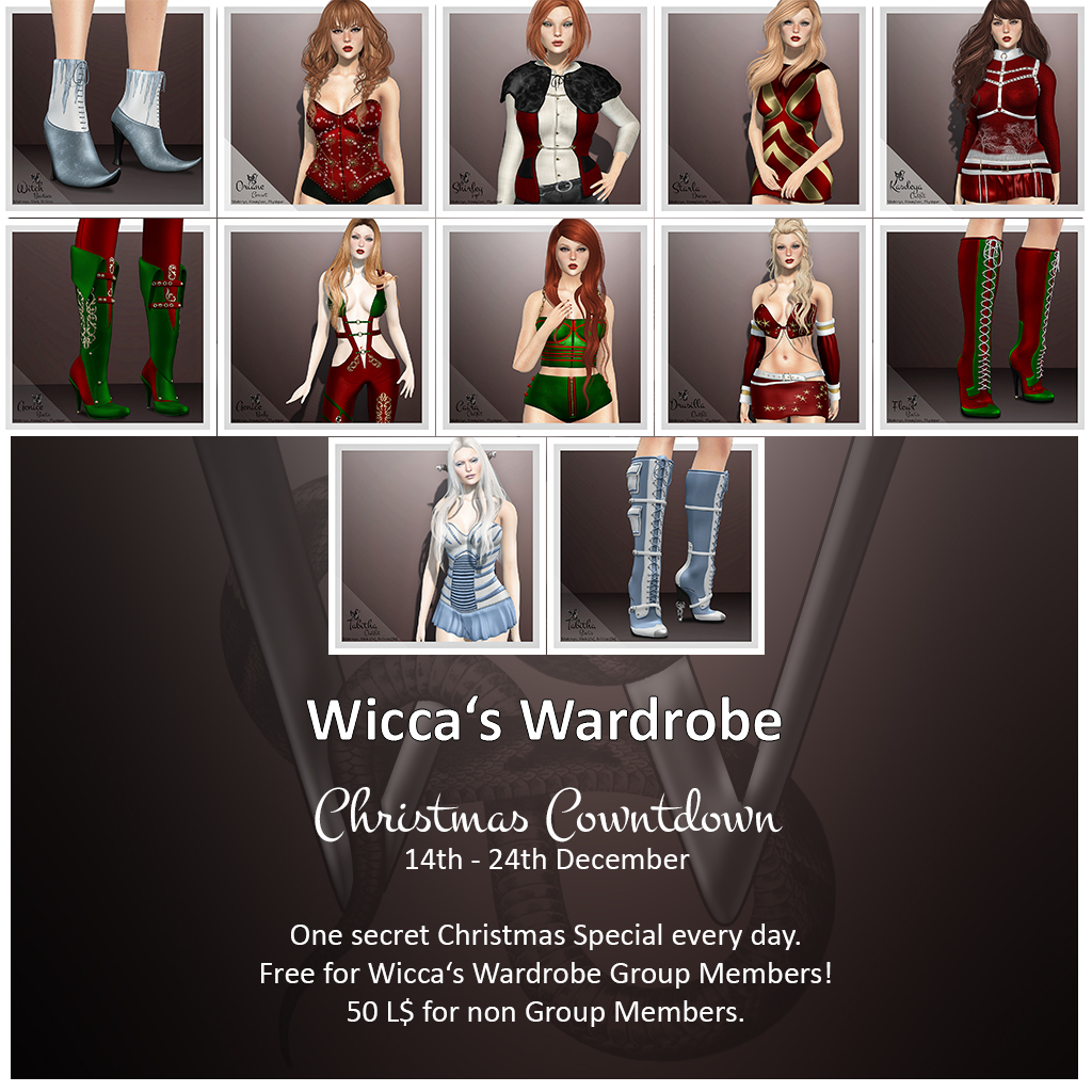 Wicca's Wardrobe – Christmas Coutdown 2018
