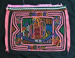 Parrot Mola Guna Kuna Textiles Panama