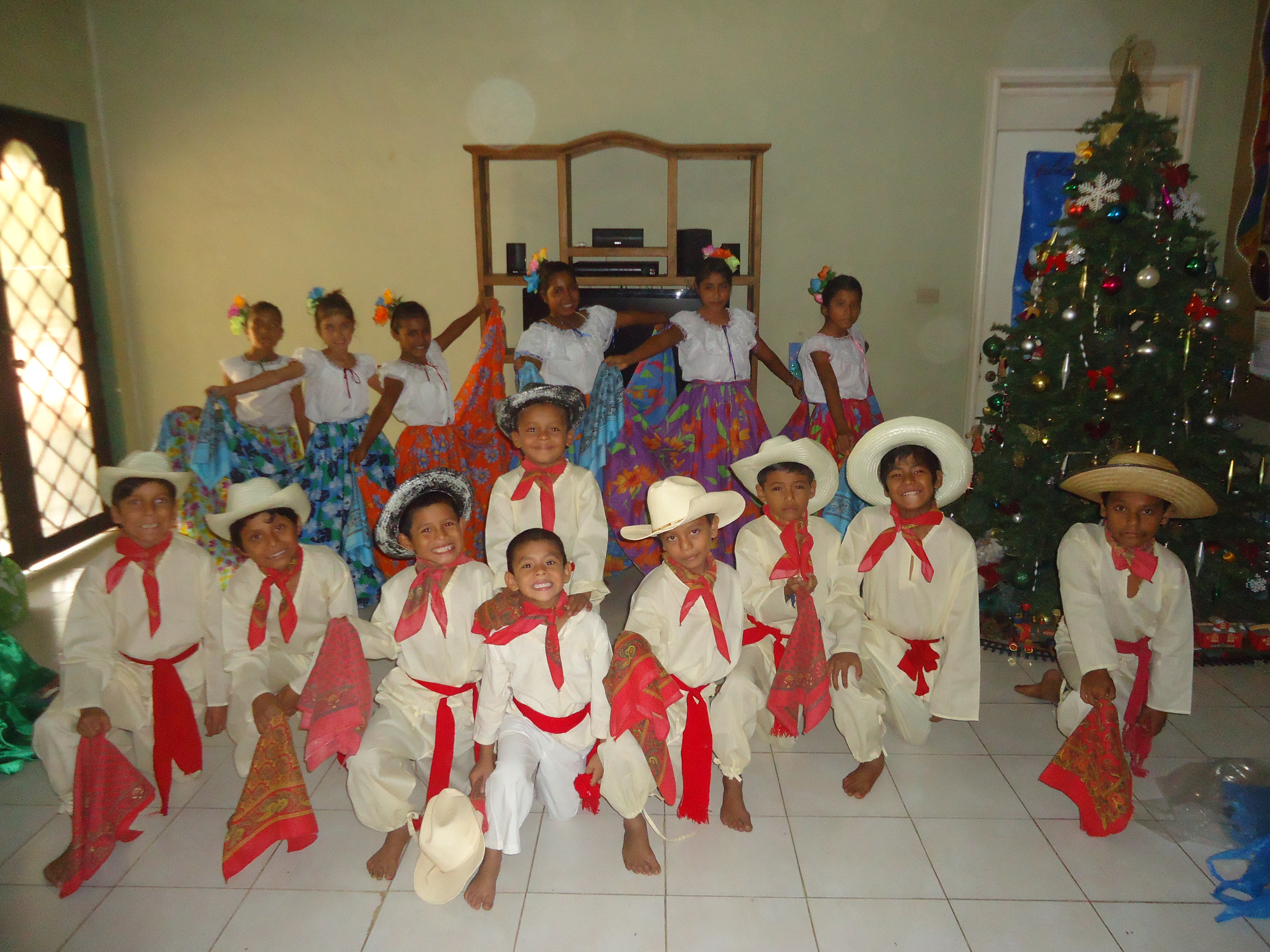 Mexican dance performance during Christmas in 2012.
