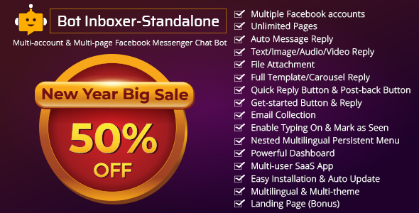 Bot Inboxer - Standalone v2.4.1 - Multi-account & Multi-page Facebook Messenger Chat Bot
