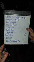 Horrendous set list
