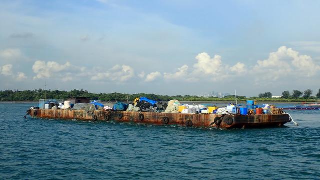 Fish farm off Pulau Semakau (South)