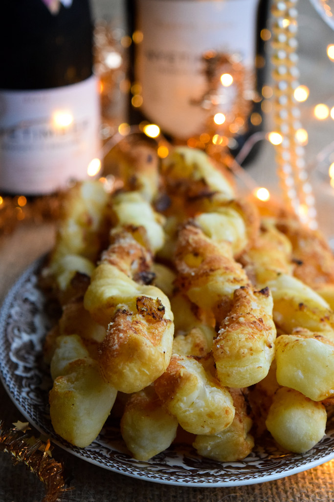Cheese Straws with Crystalised Ginger