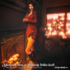 Mackenzie dress & Kennedy tartan boots