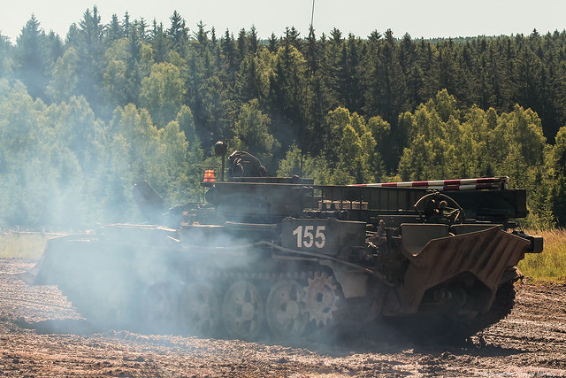 Czech Army / Bergepanzer VT-55A / Military training area Brdy / 07.06.2014