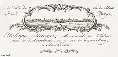 Business card by Philippe Metayer, tobacco merchant (1785 - 1833) by Jean Bernard (1775-1883). Original from The Rijksmuseum. Digitally enhanced by rawpixel.