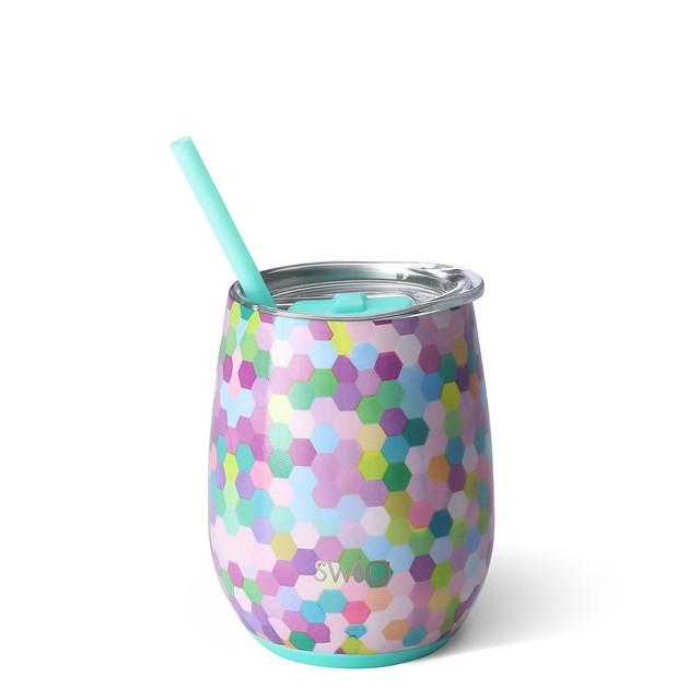 swig 14oz confetti stemless wine cup