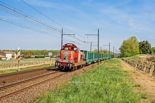 18 avril 2014 BB 661 Train 466756 Langon -> Bordeaux-Hourcade Beautiran (33)