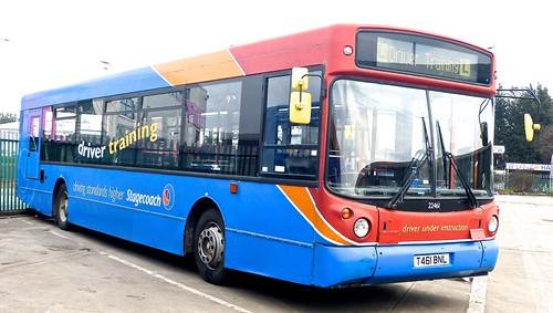T461 BNL 'Stagecoach East Midland' No. 22461 'driver training'. MAN 18.220LF / Alexander ALX 300 on Dennis Basford's railsroadsrunways.blogspot.co.uk'