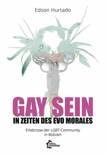 Tapa del libro Ser gay en tiempos de Evo, traducido al alemán