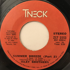 ISLEY BROTHERS:SUMMER BREEZE(LABEL SIDE-B)