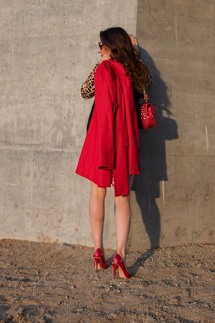 holiday red coat