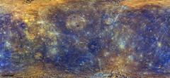 Enhanced color Mercury map. Aug 12th, 2017. Original from NASA. Digitally enhanced by rawpixel.