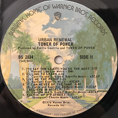 TOWER OF POWER:URBAN RENEWAL(LABEL SIDE-B)