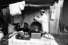 at the barbershop~ Morocco