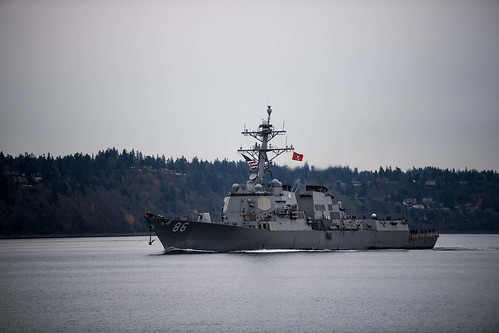 EVERETT – Arleigh Burke-class guided-missile destroyer USS Shoup (DDG 86) returned to its homeport of Naval Station Everett, Washington, November 21.