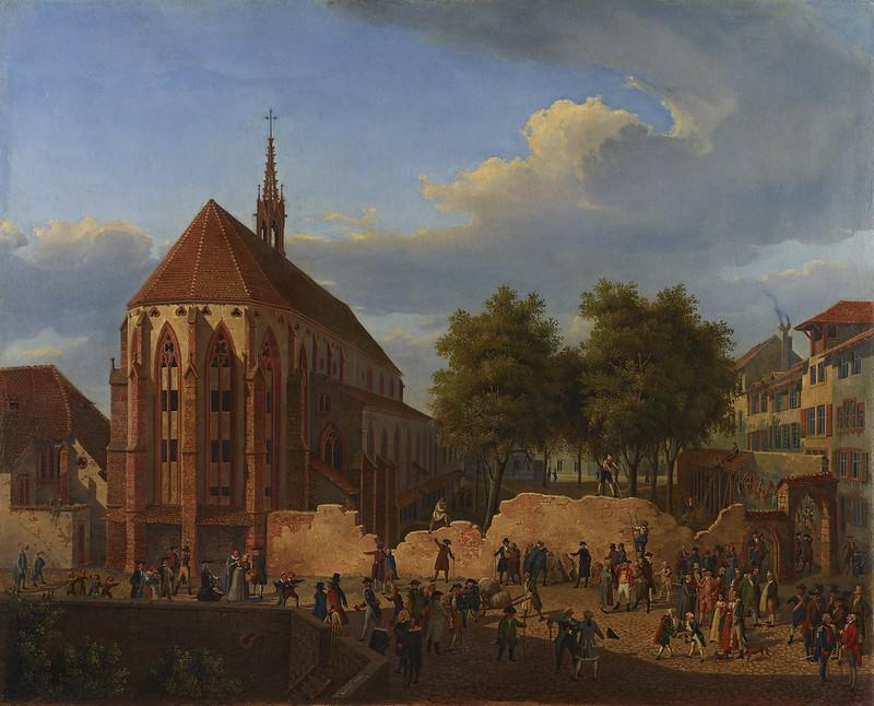 Constantin Guise - Der Abbruch des Totentanzes zu Basel (1846)