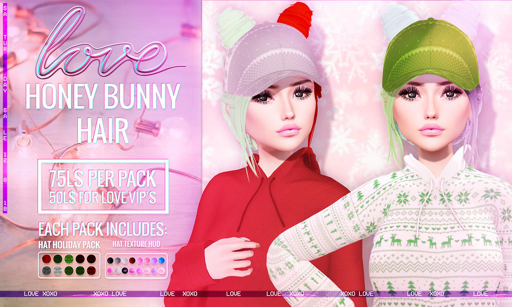 Love [Honey Bunny] 75L$ Hair – The Saturday Sale!