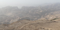 View of Petra on the way to Wadi Rum (4)