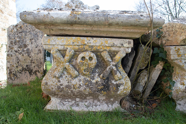 Early table tomb, Litton Cheney