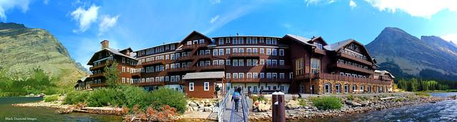 Many Glacier Hotel, Swift Current Lake, Glacier National Park, Babb, Montana, USA