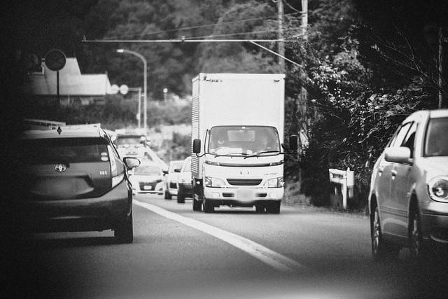 "Nov. 07. 2018  ""廃棄物輸送  / Nuclear transport""  Futaba, Fukushima(撮影:東間嶺)"