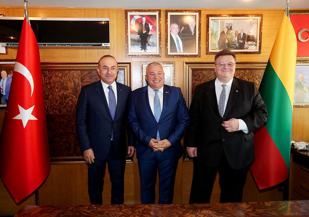 Mevlüt Çavuşoğlu, Mehmet Şahin, Linas Linkevicius