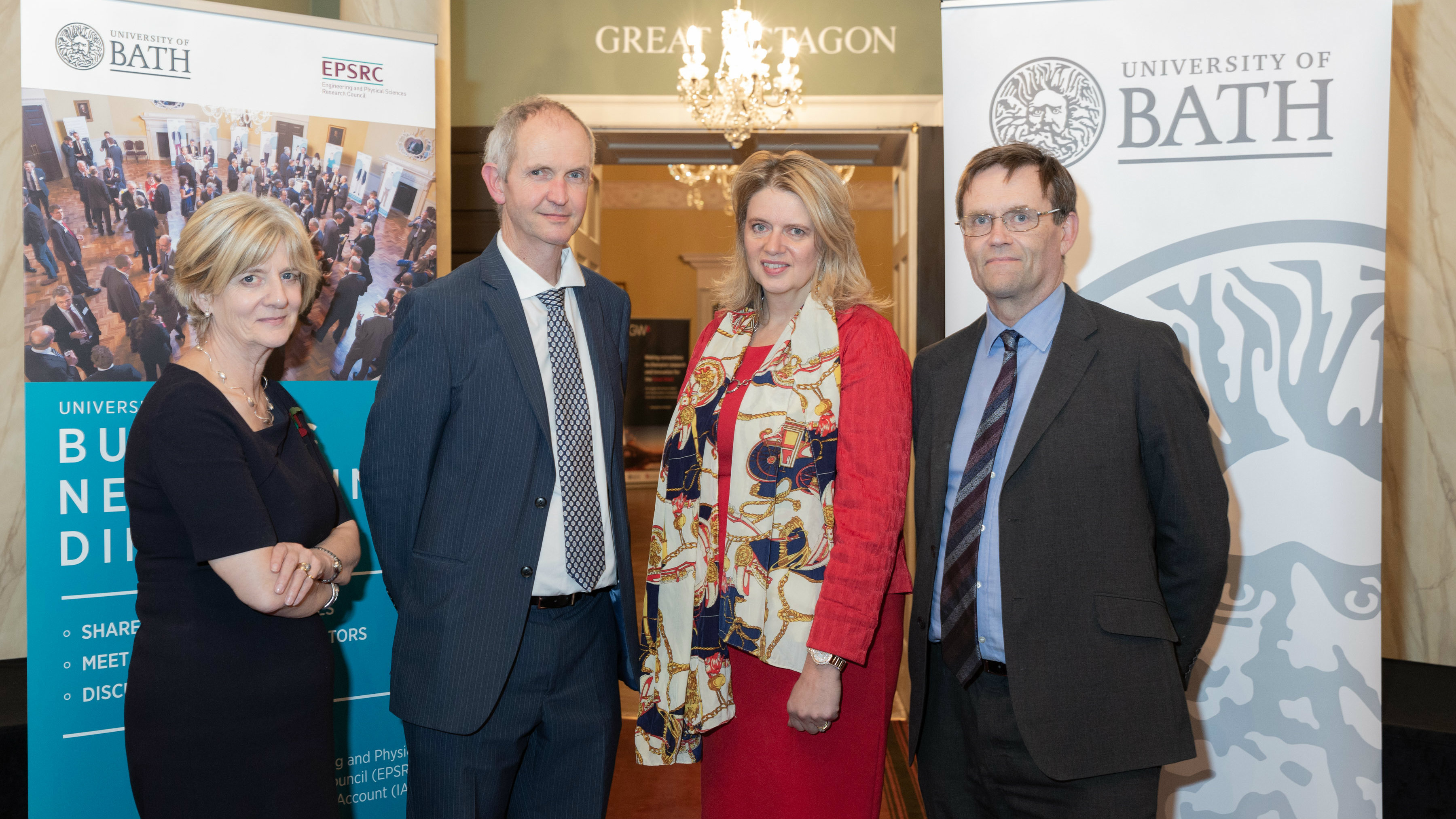 Professor Veronica Hope Hailey, Professor Jonathan Knight, Katherine Bennett and Professor Steve Egan