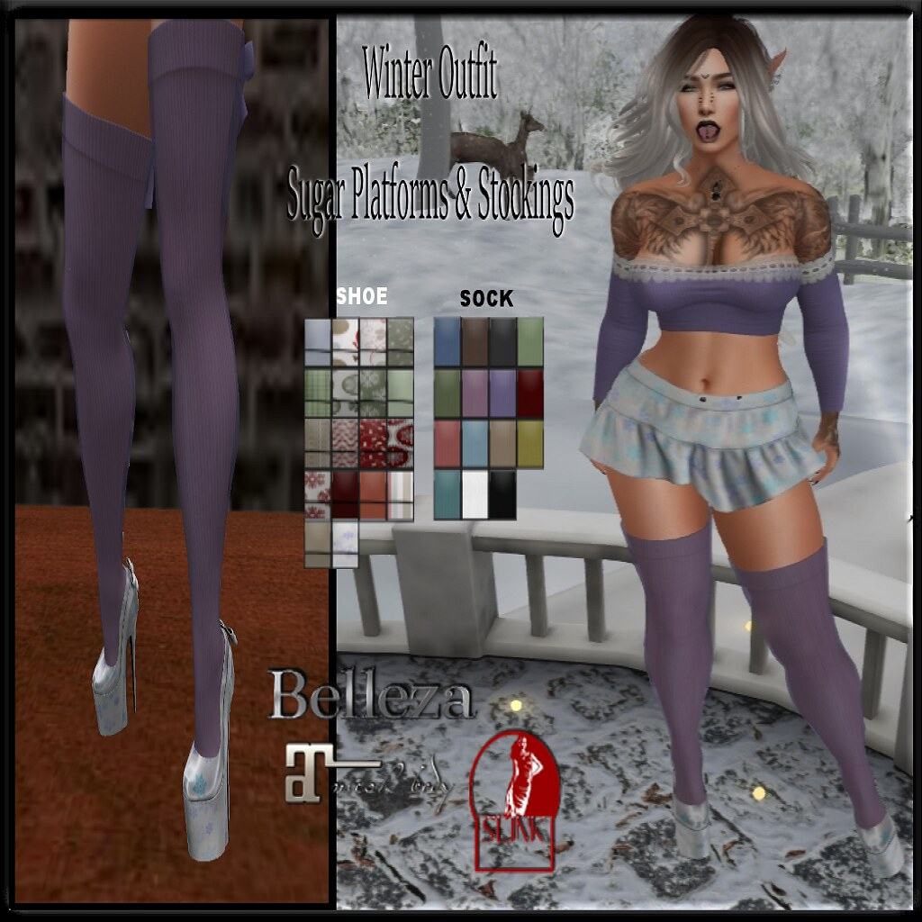 Mayhem Winter Outfit Sugar Platforms & Stockings AD