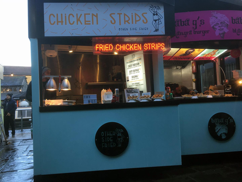 De foodmarket van Camden Town