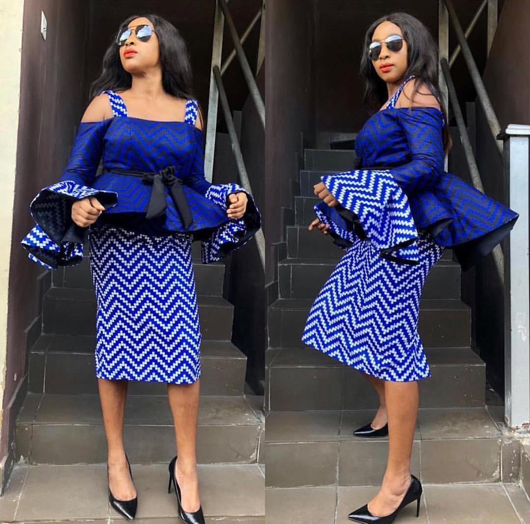 Trending Ankara Skirt & Blouse 2020 3