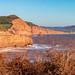 Devon red sandstone cliffs