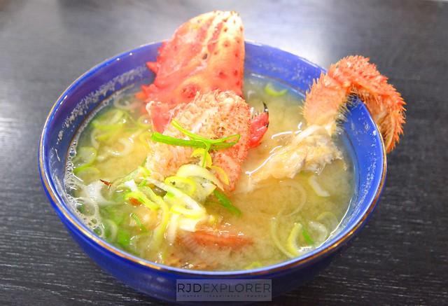 hokkaido itinerary crab soup otaru