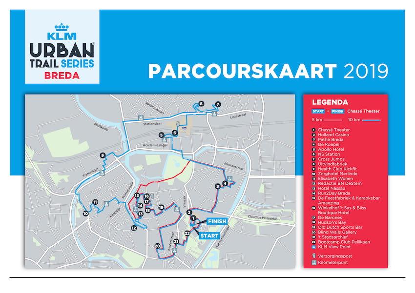 Parcourskaart-KLM-Urban-Trail-Breda