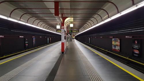 Vienna U-bahn: last train